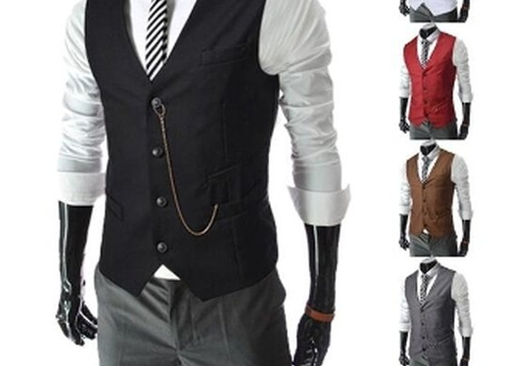 Mens Vest with Chain