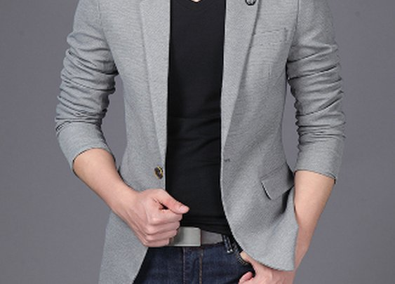 Mens Slim Fit Single Button Blazer