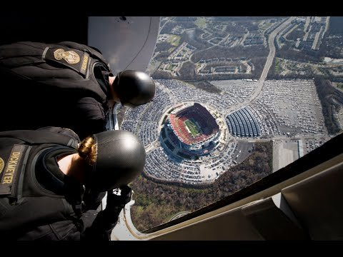 Parachuting Into A Football Stadium with a Navy SEAL