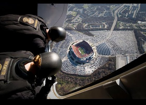 Parachuting Into A Football Stadium with a Navy SEAL