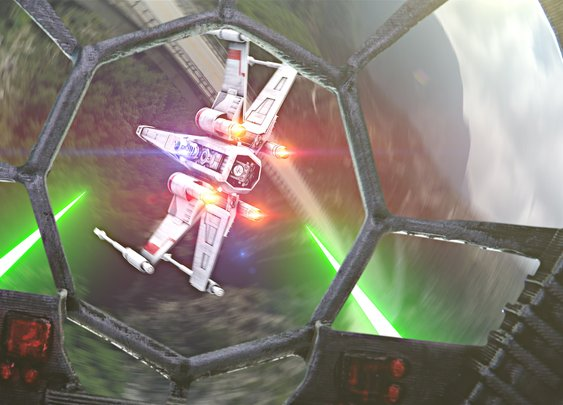 Star Wars Chase Scene Recreated Using Drones