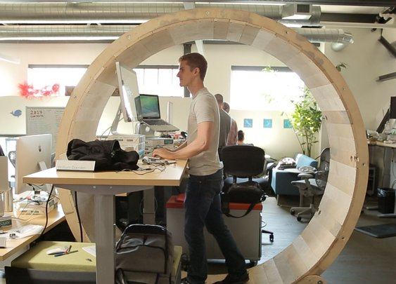 How to Make a Hamster Wheel Standing Desk - DIY