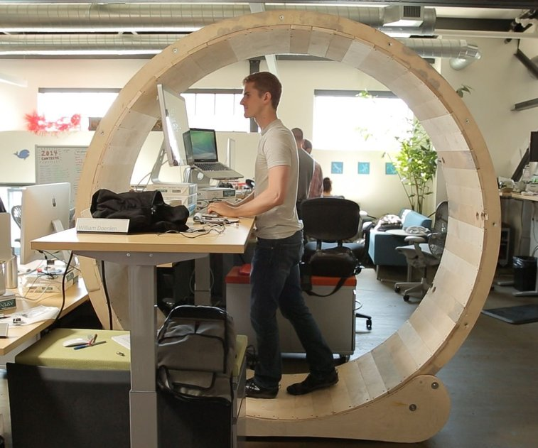 How to Make a Hamster Wheel Standing Desk - DIY