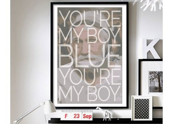 Old School - 'You're My Boy Blue' - Wall Art