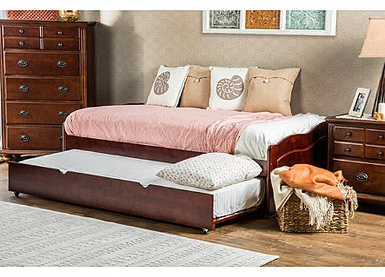 Furniture of America Triton Cherry Daybed with Twin Trundle