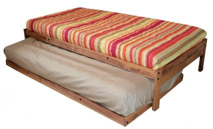 Amazon.com: Santa Cruz Extra Long Twin Bed with Twin Trundle (Toasted Pecan): Kitchen