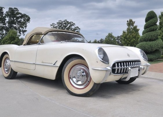 Once buried alive, 1954 Corvette now heads to auction