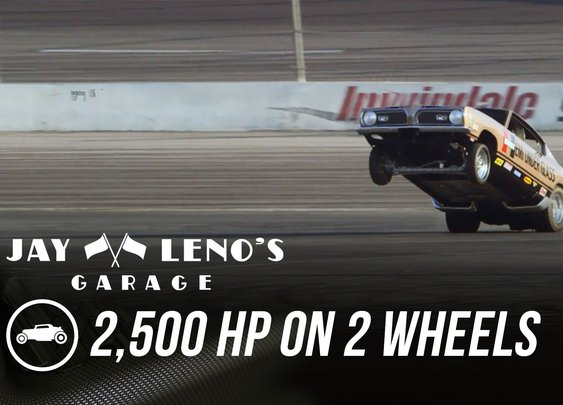 Jay Leno in scary rollover riding in 2,500 HP vehicle on his show!