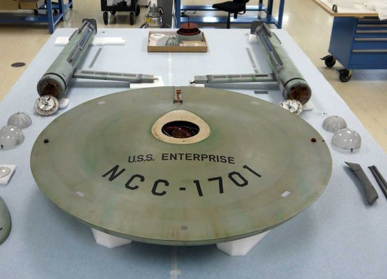 USS Enterprise boldly goes from the Smithsonian's basement into the main gallery - The Washington Post