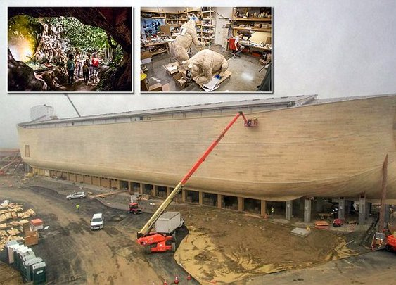 Life-size Noah's Ark prepares to finally open as Kentucky's newest tourist attraction  | Daily Mail Online