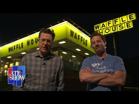Sturgill Simpson and Stephen Colbert go to Waffle House
