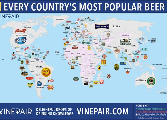 Every Country's Most Popular Beer.