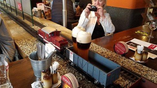 Beer Delivered By Train at Prague Restaurant