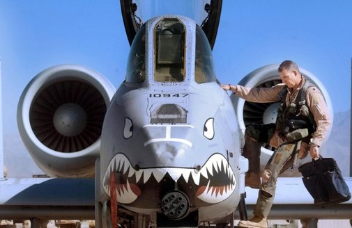 "Airman Plays ""Taps"" on A-10 Warthog's 30mm Cannon"