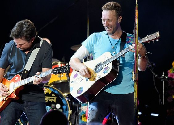 Michael J. Fox joined Coldplay in an dream cover of 'Johnny B. Goode'