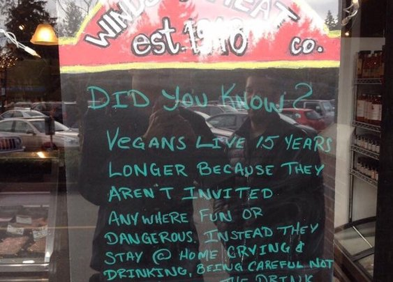 A little fun at Vegan's expense.