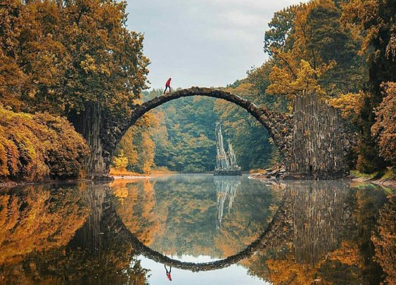 A place I must visit: Kromlau Bridge, Germany.