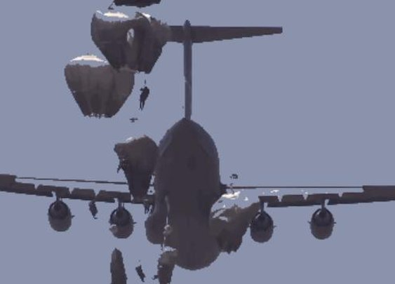 Watch Hundreds Of Paratroopers Jump Out Of An Airplane In Formation - Digg