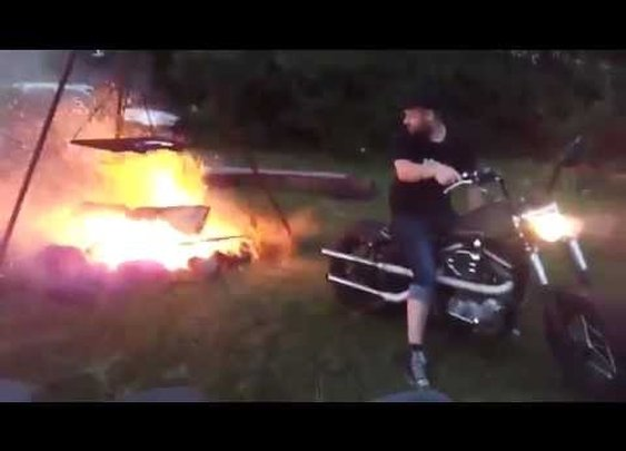 How to Stoke a Fire with a Motorcycle