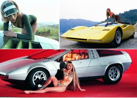 Vintage photos of space-age concept cars paired with hot chicks from the 60s and 70s   Dangerous Minds