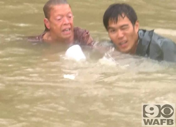 Unreal Rescue In Baton Rouge Floodwater - YouTube