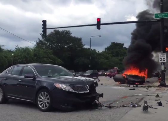 Videos Show Chaotic Aftermath Of Crash That Split Lamborghini Huracan In Half