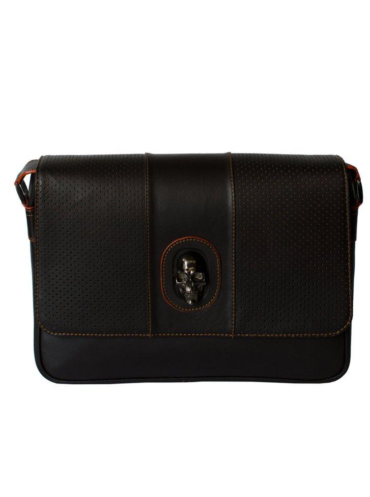 Brown Leather sport briefcase — Prison Art