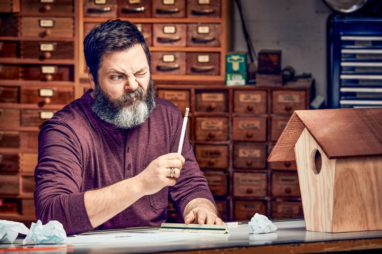 Nick Offerman Is the World's Funniest Woodworker