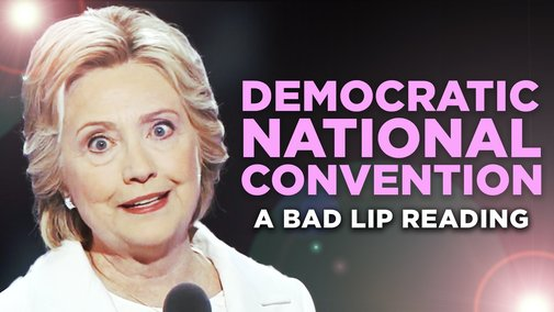 """""""DEMOCRATIC NATIONAL CONVENTION"""" — A Bad Lip Reading - YouTube"""