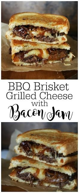BBQ Brisket Grilled Cheese with Bacon Jam | The Manly Club