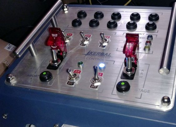 Play Kerbal Space Program like an astronaut with this custom control board