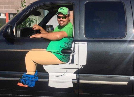 The Sault's Plumber Truck Logo