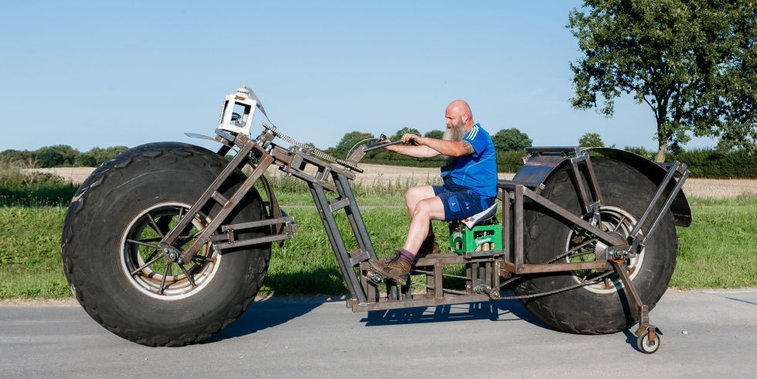 German Eyes Record for Pedaling World's Heaviest Bicycle