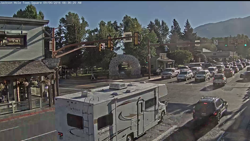 This live stream of an intersection in a random Wyoming town is my favorite fall TV show
