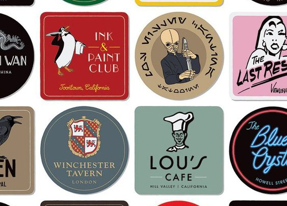 This illustrator is creating beer mat homages to famous movie bars