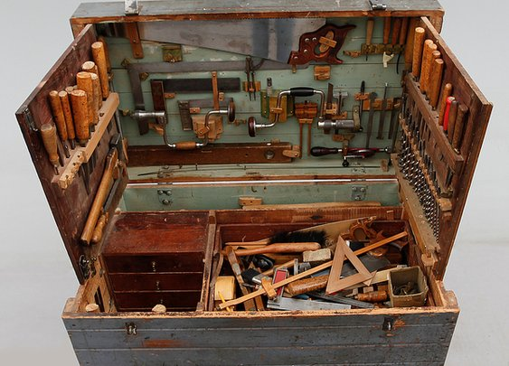Fact: This Early 20th Century Swedish Tool Chest is Super Cool