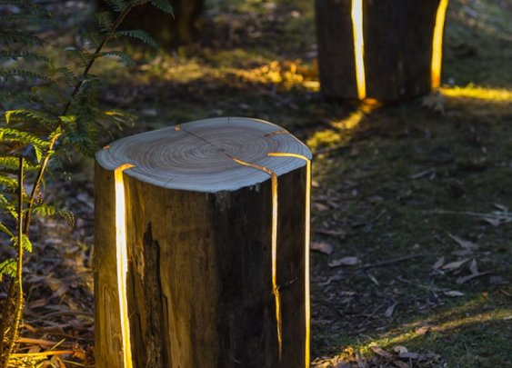 Duncan Meerding Expands his Cracked Log Lamp Range - Recycled Interiors