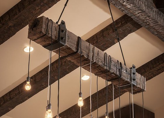 DIY Wood Beam Chandelier Ideas • Rustic Lamps • iD Lights