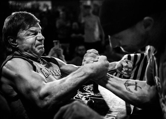 The 75-Year-Old Arm Wrestler - The New York Times