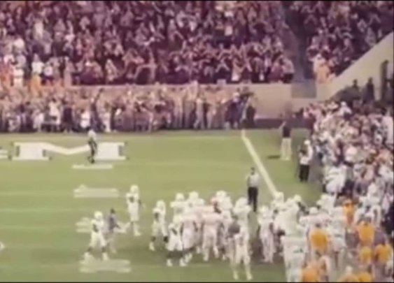 Ref Walks in Front of Cannon