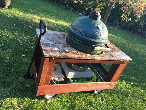 DIY Big Green Egg Cart (with Wheels)