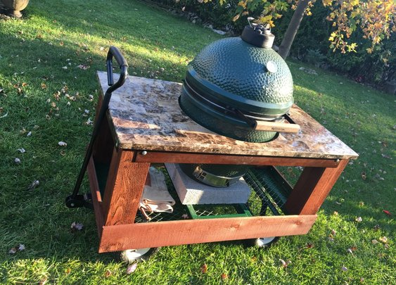 DIY Big Green Egg Cart (with Wheels)