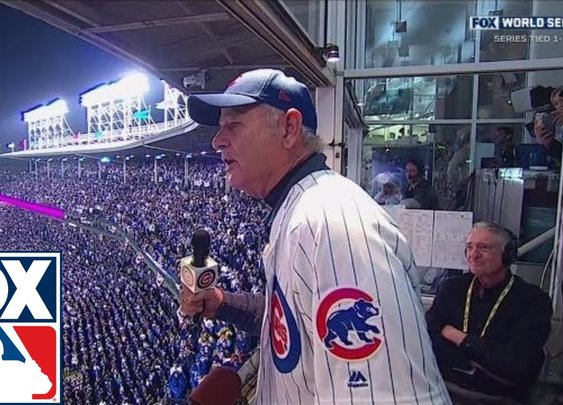 Bill Murray sings 'Take Me Out to the Ball Game' as Daffy Duck