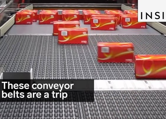 Waste 1 minute of your life watching cool conveyer belts.