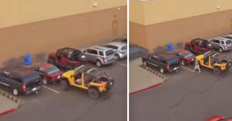 Jeep driver gets revenge.