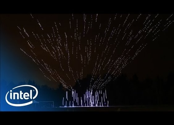 Intel's 500 Drone Light Show | Intel - YouTube
