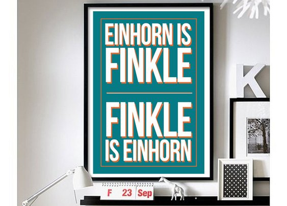Ace Ventura – ('Finkle is Einhorn') wall art
