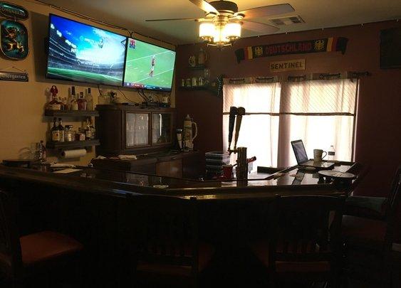 Home bar I built in my formal living room