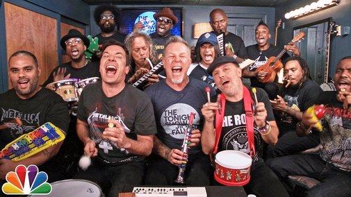 Enter Sandman with Jimmy Fallon, Metallica, and Classroom Instruments