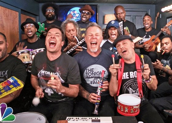 Enter Sandman with Jimmy Fallon, Metallica, and Classroom Instruments